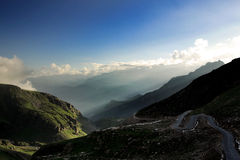 High mountain valley and rock field  in Northern India Royalty Free Stock Photography