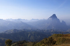 High mountain between Vang Vieng and Louangprabang. The top mountains between Vang Vang Vieng and Louangprabang Laos, view point, sighseeing, travel, nature royalty free stock images