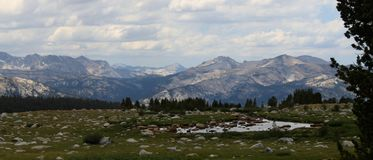 High mountain view Royalty Free Stock Photo