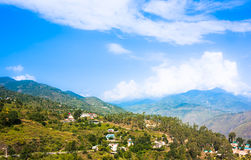 High mountain village in Himalayas. Picture taken during bicycling trip in autumn. Himalayas, India Stock Image