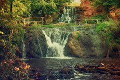 High mountain waterfall Stock Photos