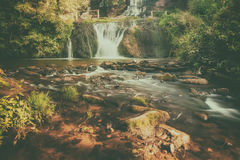 High mountain waterfall Royalty Free Stock Image