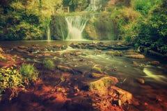 High mountain waterfall Stock Image