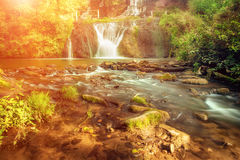 High mountain waterfall Royalty Free Stock Photos