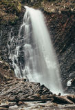 High mountain waterfall. mountain landscape Royalty Free Stock Photos