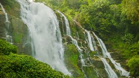 High mountain waterfall near Chiang Mai, Thailand. Video 1920x1080 - High mountain waterfall near Chiang Mai, Thailand stock video footage