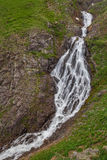 High Mountain Waterfall Royalty Free Stock Photography