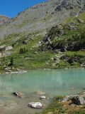 High-mountainous lake Kuiguk Stock Image
