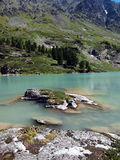 High-mountainous lake Kuiguk Royalty Free Stock Photos
