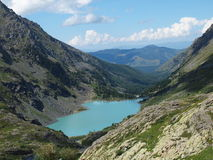High-mountainous lake Kuiguk Royalty Free Stock Photography