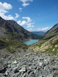 High-mountainous lake Kuiguk Stock Photo