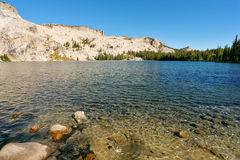 High-mountainous May lake Royalty Free Stock Images