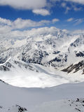 High Mountains. Caucasus Mountains. Gorge Irik Chat. Snowy plateau Royalty Free Stock Photo