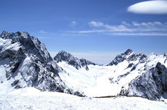 High Mountains. Caucasus. Dombaj. View from the ski resort Stock Photo