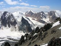 High mountains. Of North Tien Shan stock image