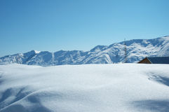 High mountains. Under snow in the winter Stock Photography