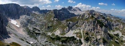 High Mountains. Peaks of mountain Durmitor in Montenegro stock photo