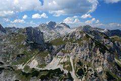 High Mountains. Peaks of mountain Durmitor in Montenegro stock photos