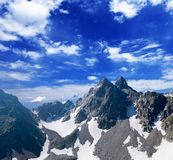 High mountains royalty free stock photography