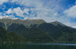 High mountains in Abkhazia. Lake Ritsa Royalty Free Stock Photo