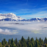 High mountains above the clouds Royalty Free Stock Photography