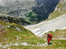 Mountains of the Albanian Alps. High mountains of the Albanian Alps stock image