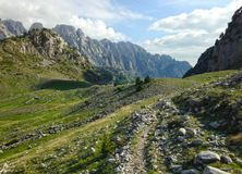 Mountains of the Albanian Alps. High mountains of the Albanian Alps royalty free stock image