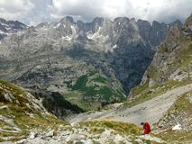 Mountains of the Albanian Alps. High mountains of the Albanian Alps royalty free stock photos