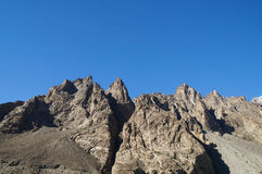High mountains at Attabad Lake in Northern Pakistan Stock Photo