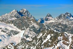 High mountains in Austria Alps. Royalty Free Stock Photography