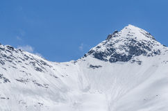 High mountains with avalanches Royalty Free Stock Images