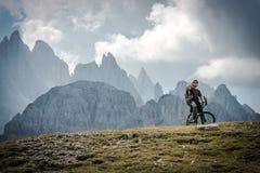 High Mountains Bike Ride Royalty Free Stock Photo