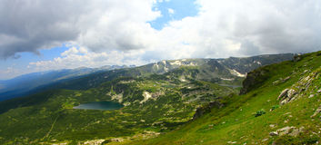 High mountains. Bulgarian mountains and white clouds in the sky Stock Photo