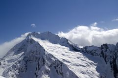 High mountains. Caucasus, Dombay. Royalty Free Stock Photo