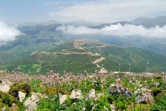 High mountains and deep valleys on the island of Crete Stock Photo