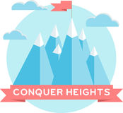 High mountains. Flat design Royalty Free Stock Photography