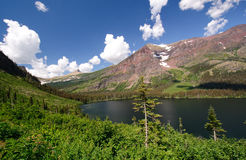 High Mountains of Glacier National park Royalty Free Stock Photos