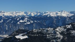 High mountains in Graubuenden Canton, Royalty Free Stock Images