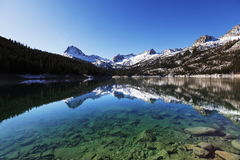 High mountains lake. South Lake in Sierra Nevada mountains, USA Royalty Free Stock Photos