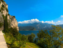 High mountains and Lake Garda,Italy, Europe. High mountains and Lake Garda, Italy, Europe Stock Photo