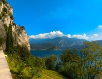 High mountains and Lake Garda,Italy, Europe Stock Photo