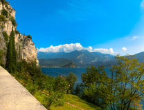 High mountains and Lake Garda,Italy, Europe. High mountains and Lake Garda, Italy, Europe Royalty Free Stock Photos