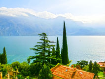 High mountains and Lake Garda,Italy, Europe. High mountains and Lake Garda, Italy, Europe Royalty Free Stock Photography