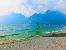 High mountains and lake Garda,Italy, Europe Royalty Free Stock Photo