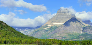 High mountains landscape on the Grinnell Glacier trail, Glacier national park, Montana Royalty Free Stock Images