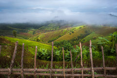 High Mountains at Mea La Noi City in Mae Hong Son Stock Image