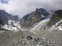 High mountains in the Mount Blanc complex, Val Veny, Alps Mounta Royalty Free Stock Photos