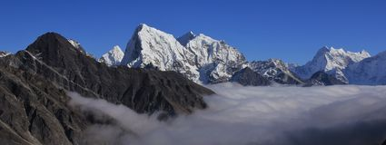 High Mountains Of The Himalayas, Gokyo Valley Stock Photo