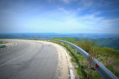 High mountains road Stock Photography