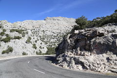 High mountains of Tramuntana Mallorca. Road in the high mountains of Tramuntana Mallorca Spain Stock Photo